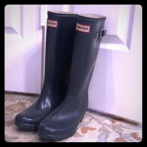 Hunter boots, forest green, GUC